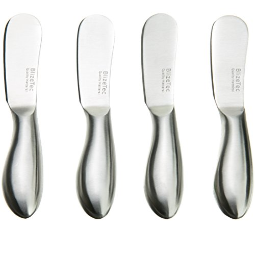 Spreader Knife Set: BlizeTec Multipurpose Cheese and Butter Spreader Knives (4 Pcs)