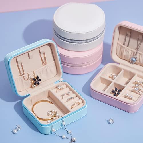 Caja de almacenamiento de caja de joyería Caja de almacenamiento de joyas de viaje portátil, Pendientes pequeños Pendientes Minimalistas Anillos Anillos Caja de almacenamiento de joyas