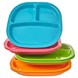 Harmony 3-Compartment Divided Plastic Kids Tray | set of 12 in 4...