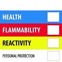 Tape Logic DL1286 Instructions Label Legend Health Flammability Reactivity 4 Length x 4 Width Blue/Red/Yellow (Roll of 500) [並行輸入品]