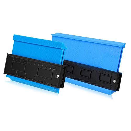 Aaaspark 2 Stücke Konturlehre Duplikator(12CM&25CM), Konturmessgerät Form-Duplikator,Konturenlehre Perfekt für Fliesen, Laminat, Massivholz & Vinylböden usw(blau)