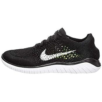 Nike Mens Free Rn Flyknit 2018 Black/White 942838 001 - Size 11