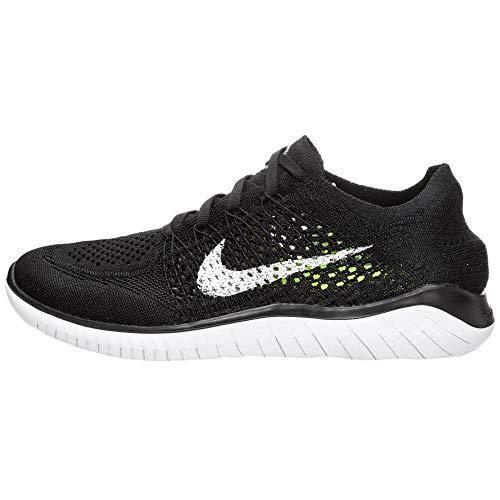 Nike Men's Free RN Flyknit 2018 Running Shoe (12 D(M) US, Black/White)