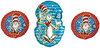 Dr. Seuss - The Cat in the Hat Balloon Bouquet - Three Mylar Balloons