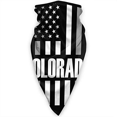 Mathillda Colorado USA Vlag Gezichtsmasker Hals Gamaschen Bandana sjaal bivakmuts Multifunctionele hoofddeksel