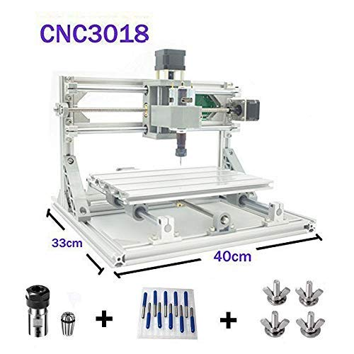 TopDirect DIY CNC Router Engraving Machine, Working Area: 300*180*45mm, 3 Axis Mini...