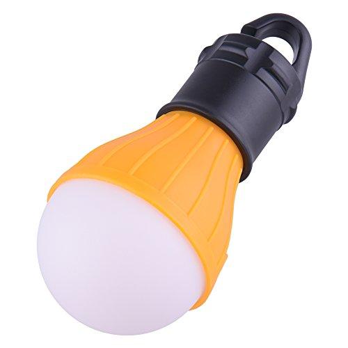 Zeltlampe wird mit 3xAAA-Batterien,Campinglampe LED mit Karabiner XGZ Camping Lantern 4 Stücke Zeltlampe Glühbirne Set Camping Lampen wasserdicht Rucksack Licht für Abenteuer, Angeln (Gelb)