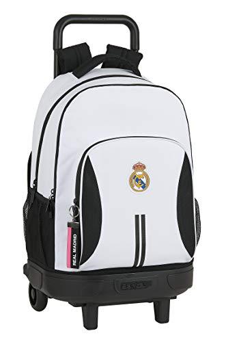 Safta 612054918 Mochila grande con ruedas carro  Trolley Real Madrid CF