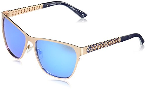 GUESS Women's Metal Square GU7403 Square Sunglasses, 29X, 58 mm
