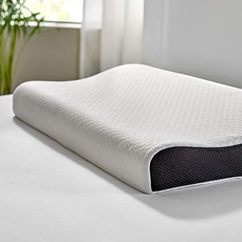 Pikolin Home Pack de 2 Almohadas viscoelásticas ergonómicas de Doble Funda para Dormir de Lado o Boca Arriba de firmeza Media, Natural, 70 x 40 cm, 2 Unidades