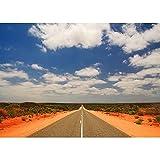 Fondo de fotografía de Paisaje Natural de Carretera Paisaje de Viaje Fondo de fotografía de Vinilo Accesorios de fotografía de Estudio A6 5x3ft / 1,5x1 m