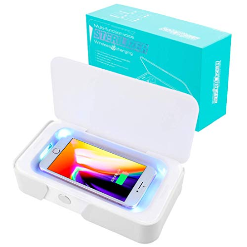 Smart Phone Sanitizer UV Sanitizer Wireless Charger for Phone Portable Cellphone Cleaner Sterilizer Box Portable for iPhone Android Devices, Toothbrush, Masks