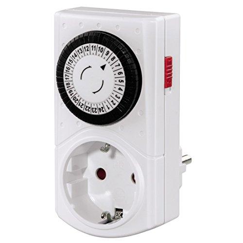 Hama Mechanische Zeitschaltuhr Mini (Tageszeitschaltuhr, 30 min Schaltintervall, 3500 W) weiß