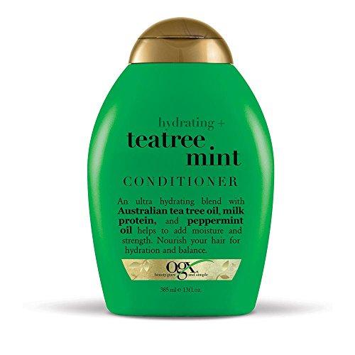 OGX - Après-shampoing hydratant à la menthe - Bouteille de 368 g - Hydratant et nourrissant - Infusé avec des huiles d'arbre à thé australien, des tensioactifs sans sulfate