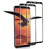 [2 Unidades] Protector de Pantalla de Cristal Templado para Samsung Galaxy S9, Dureza 9h, Antiarañazos, Antihuellas, Cristal Protector de Pantalla para Samsung S9 (Negro)