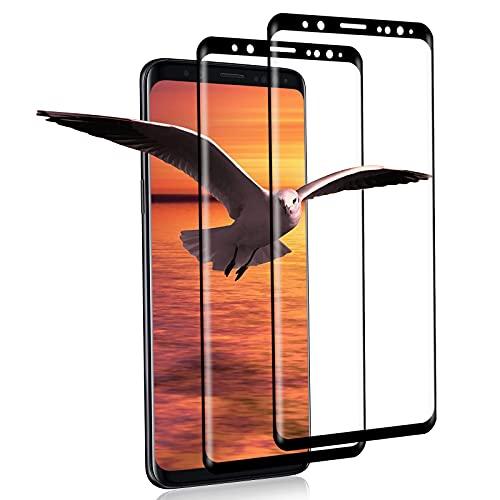 [2 Pezzi] Vetro Temperato per Samsung Galaxy S9, Durezza 9H, Anti-graffio, Anti-Impronte, Pellicola Protettiva in Vetro per Samsung S9 (Nero)