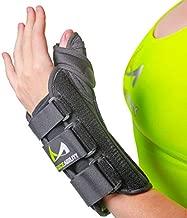 BraceAbility Thumb & Wrist Spica Splint   De Quervain's Tenosynovitis Long Stabilizer Brace for Tendonitis, Arthritis & Sprains Forearm Support Cast (Small - Left Hand)
