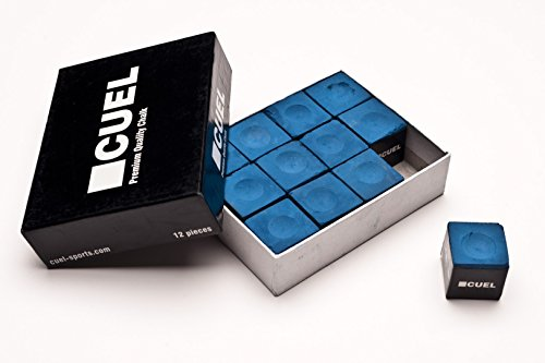 Cuel Billard Kreide 12 Stück Blau