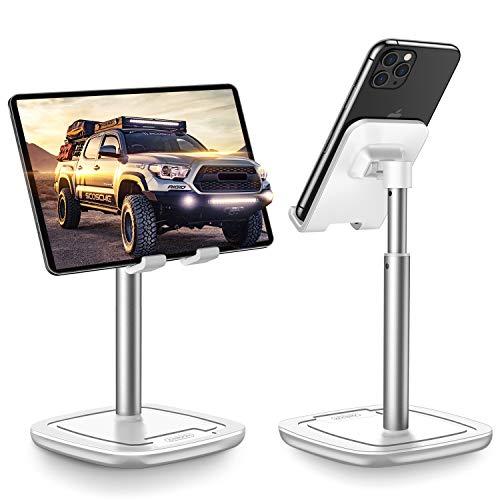 """Soporte Tablet Teléfono Altura,JOYROOM Ajustable Soporte Movil Mesa,Compatible con Phone,Samsung Tab, Huawei, Facetime, Teletrabajo, Transmisión en Vivo(4\""""-10\"""")"""