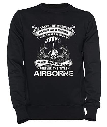 Rundi Airborne Infantry Mom Airborne Jump Wings Airborne Badge Airborne Brot Hombre Mujer Unisexo Sudadera Jersey Negro Tamaño L - Women's Men's Unisex Sweatshirt Jumper Black