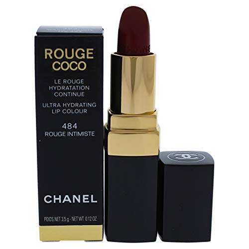 Chanel Rouge Coco Ultra Hydrating Lip Colour 484 Rouge Intimiste for Women, 0.12 Ounce