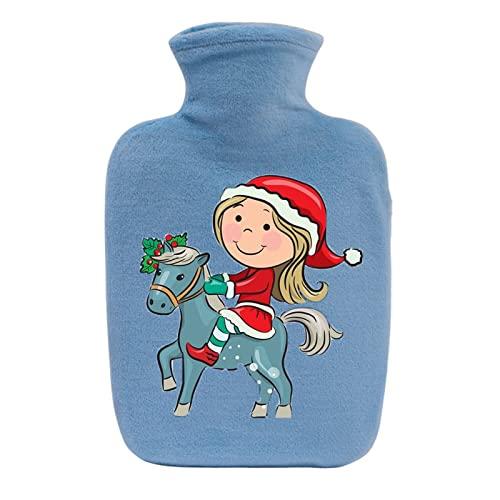 Un Termo de Navidad de Dibujos Animados para aliviar el Dolor de Espalda, Cuello y Hombros, as í como la dismenorrea Femenina, es un Gran Mujeres-Sky Blue