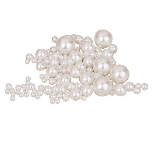 Magideal Lot de 150 assortis Taille Résine Fausse Perle pour l'artisanat Bijoux Apprêt