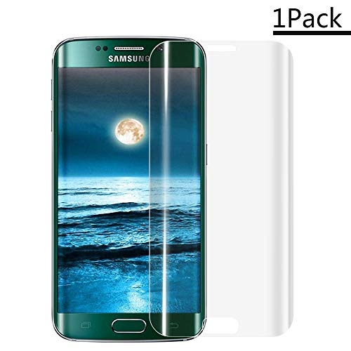XCYYOO [1 Pacco] Pellicola Vetro Temperato Samsung S6 Edge [Copertura Completa], 9H Durezza Ultra Resistente Protettiva Proteggi Schermo per Samsung S6 Edge (0.33mm HD Alta Trasparente)