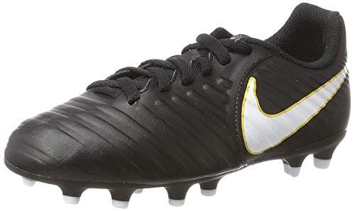 Nike Kids Jr. Tiempo Rio IV (FG) Firm Ground Soccer Cleat Black/White Size 5 M US