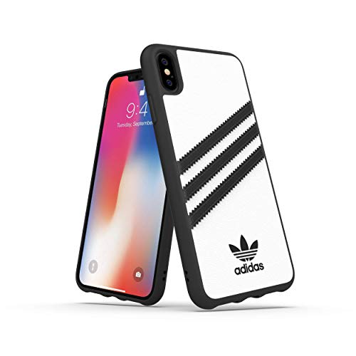 Adidas Originals Moulded Case Samba - Custodia per iPhone XS Max, colore: Bianco