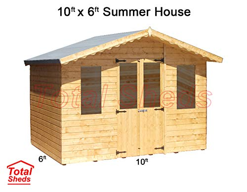 Total Sheds 10ft (3m) x 6ft (1.8m) Summer House Cabin Supreme Cabin