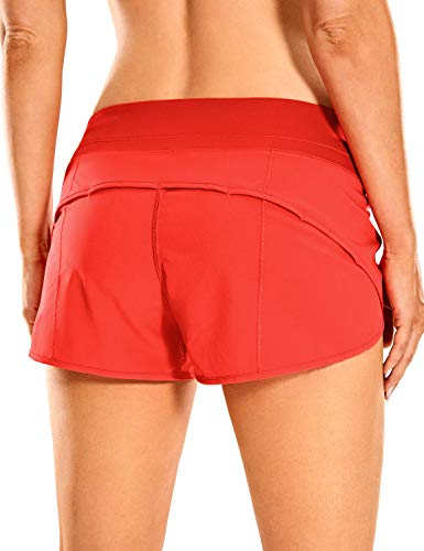 CRZ YOGA Women's Quick-Dry Workout Sports Active Running Shorts - 2.5 Inches Poppy Small