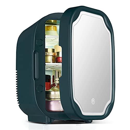 Refrigerador Pequeño PortátilMini Nevera para Enfriar Y Calentar, Mini Refrigerador Portátil para Coche Y Casa, Mini Nevera Portátil para El Skincare Latas De (Color : Green)