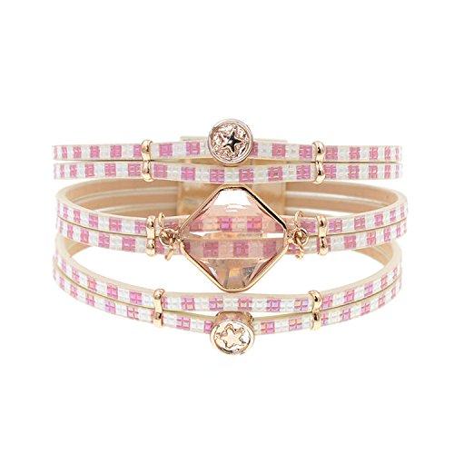 Ty-BLACK1 Bracelets ty-black1Fashion vetro di Boemia bracciali bracciali gioielli come pic 19cm
