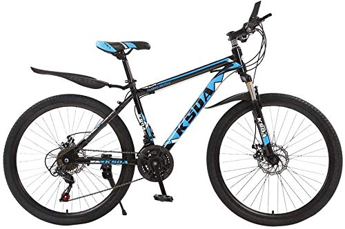 WJJH Mountain Bike for Men Land Rover 26 Inch with 21 Speed Dual Disc Brakes Suspesion Travel Camping Bicycle,Blue