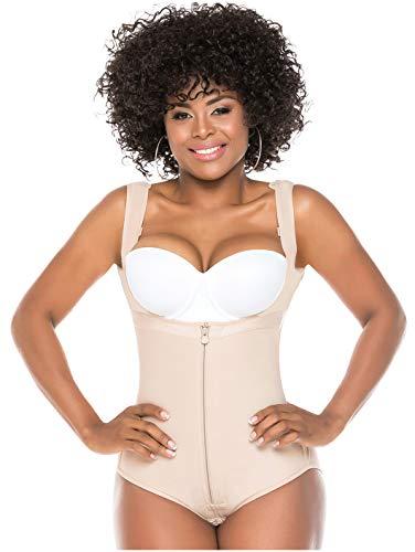 Salome 0419 Colombian Fajas for Women Reductoras y Moldeadoras para Adelgazar Beige L