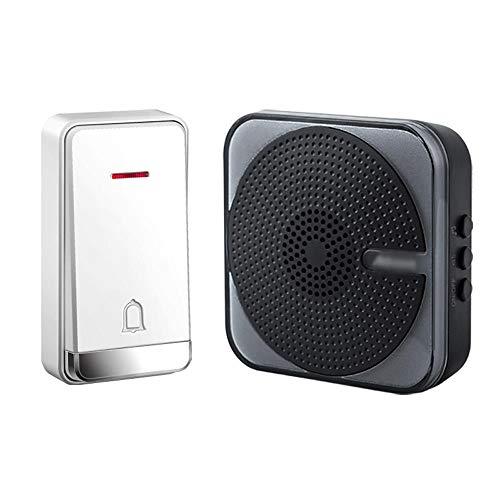 Zelfvoorzienende draadloze deurbel, batterijloze deurbel, de open ruimte kan 230 meter bereiken. 32 melodieën, 4 volumeniveaus, IP47 waterdichte zender.