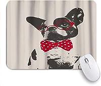 マウスパッド 明るいフローラルヘッドリースのブルドッグパグ子犬 ゲーミング オフィス最適 高級感 おしゃれ 防水 耐久性が良い 滑り止めゴム底 ゲーミングなど適用 用ノートブックコンピュータマウスマット