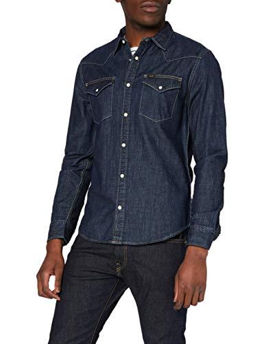 Lee Herren Western Shirt Freizeithemd, Blau (Blueprint h), L