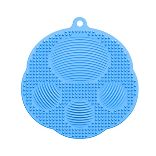 Multifuncional Silicona Magnética Cepillo De Limpieza De Silicona Cepillo De Limpieza Cara Masaje Cepillo De Frotar Baño Copa Tazón Escudo De Calor Mat