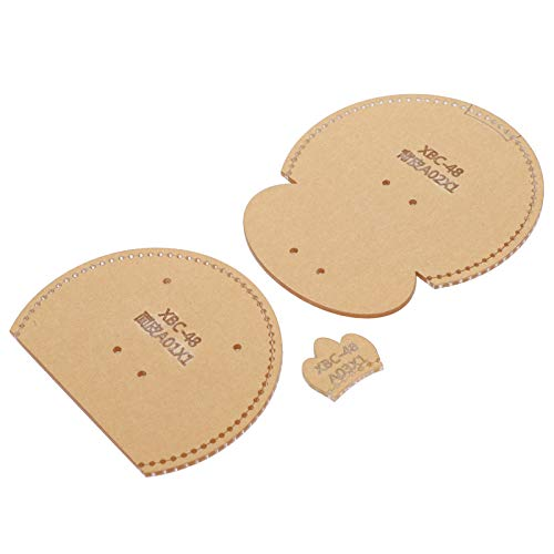 Plantilla de billetera de cuero transparente transparente fácil de guardar Molde para manualidades DIY para monedero pequeño billetera 4PCS