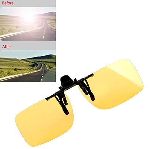 Sonnenbrille, polarisiert, zum Anklipsen, Nachtsicht, UV-A, UVB, Gelb