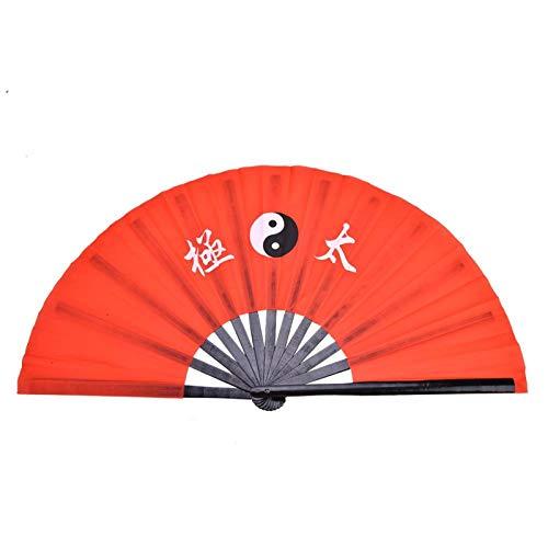 DAUERHAFT Abanico de Tela de Seda de bambú de Kung Fu de Ar