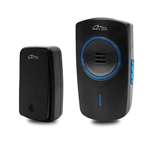 Media-Tech MT5701 Kinetische elektronische deurbel met 51 melodieën tot 150 m zender, ontvanger