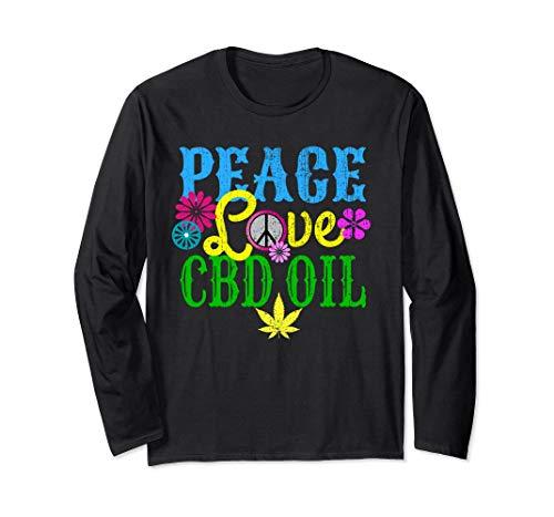 Peace Love Cbd Oil Shirt Hemp Cannabis...