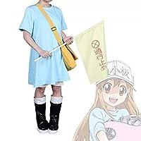 Umiya血小板ちゃん コスプレ 子供用 はたらく細胞 コスプレ 子供用 ハロウィン 文化祭 舞台衣装 子供用 血小板100