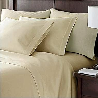 HC COLLECTION Hotel Luxury 3pc Duvet Cover Set-1500 Thread Count Egyptian Quality Ultra Silky Soft Premium Bedding Collection-King Size Camel