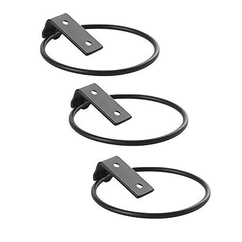 Soporte para macetas, montaje en pared, soporte de hierro, para macetas, para interiores y exteriores (paquete de 3, L)
