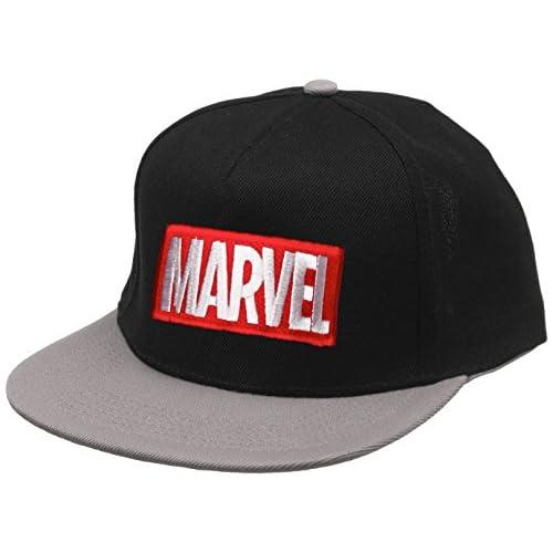 Marvel Logo Berretto, Nero/Grigio, Unica Uomo