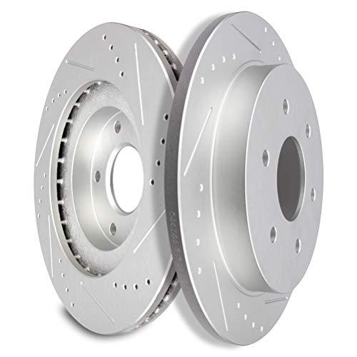 SCITOO Brake Rotors, Rear Slotted Rotors Brake...